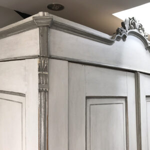 Antique French Painted Armoire – SOLD
