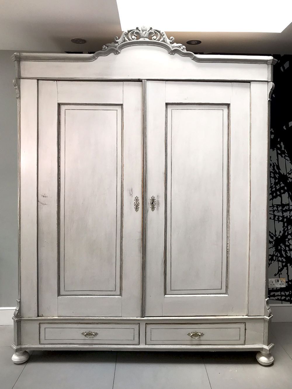 Antique French Painted Armoire ...