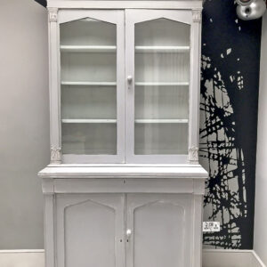 painted bookcase|shabbychic|bookcase|painted furniture|antique bookcase|grey bookcase|storage|shelving|shelf|shelves