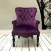 handcrafted seating | armchairs | sofas | handmade seating | purple velvet armchair | purple velvet | velvet sofas| velvet armchairs | club chair | handcrafted seating London | London interiors | London home decor | bespoke chairs | NapoleonRockefeller.com