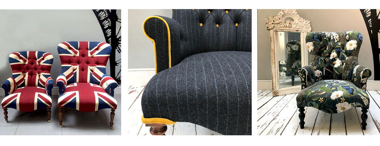 Bespoke armchairs from napoleonrockefeller.com in Wimbledon London