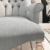 Grey|Cotton|Armchair|Bespoke|Handcrafted|Upholstered|London interiors|Home decor|Seating|Home|Lounge|Living room|Bedroom|Neutrals|London sofas|London interiors