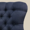 Navy Blue Romo Linen Armchair Handcrafted Seating Chair Bespoke Lounge chair Interiors Interior style Bedroom chair Living room Boudoir Home decor London