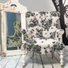 Roses|Floral|Armchair|Handcrafted|Seating|Chair|Bespoke|Lounge chair|Interiors|Interior style|Bedroom chair|Living room|Boudoir|Home decor|London